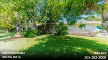 Single Family For Sale: 7865 SW 158 Ter Palmetto Bay,  $625000