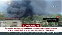 #SONDAKİKA Beykoz'da bulunan eski kundura fabrikasında yangın çıktı