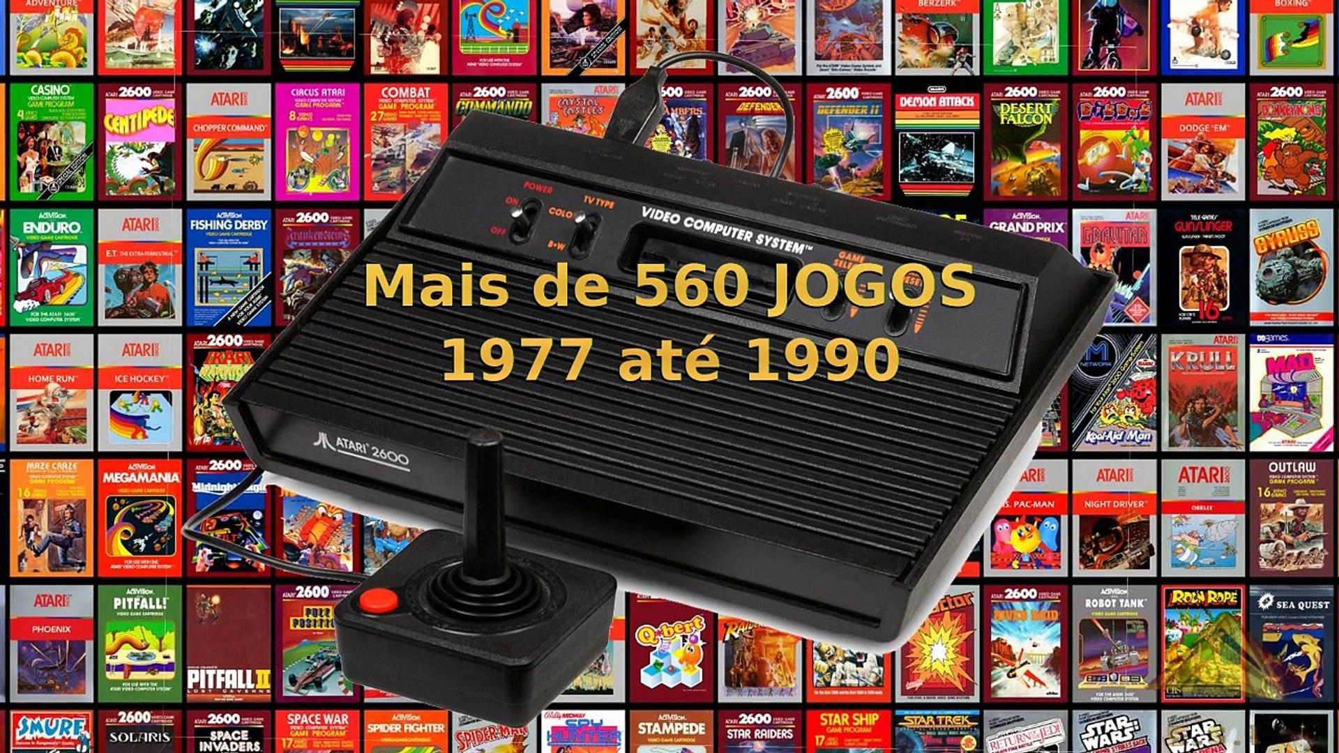 Os primeiros nove 9 jogos de Atari 2600 1977 Documentário histórico