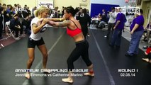 GIRLS GRAPPLING Jennifer Timmons vs Catherine Marino REMASTERED Classic• Amateur Grappling League® Womens Division