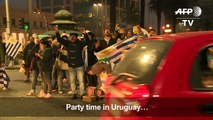 Uruguay parties into the night after win over Portugal