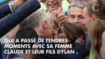 PHOTOS. Coupe du Monde 2018 : moment de tendresse pour Didier Deschamps et sa femme après la victoire des Bleus