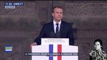 """Simone Veil au Panthéon: """"La France aime Simone Veil"""", affirme Emmanuel Macron"""