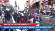 'Onur Yürüyüşü' yapmak isteyen gruba polis müdahale etti