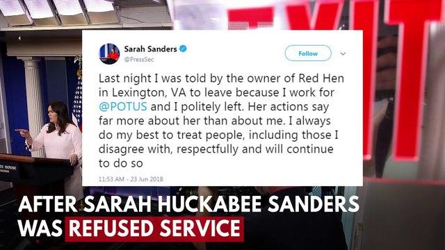 President Trump Trolls 'Filthy' Red Hen Restaurant Over Sarah Huckabee Sanders Ban