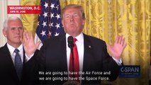President Trump Directs Pentagon To Create A 'Space Force'