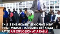 Ethiopian Prime Minister Rushed Off Stage Following Deadly Grenade Blast