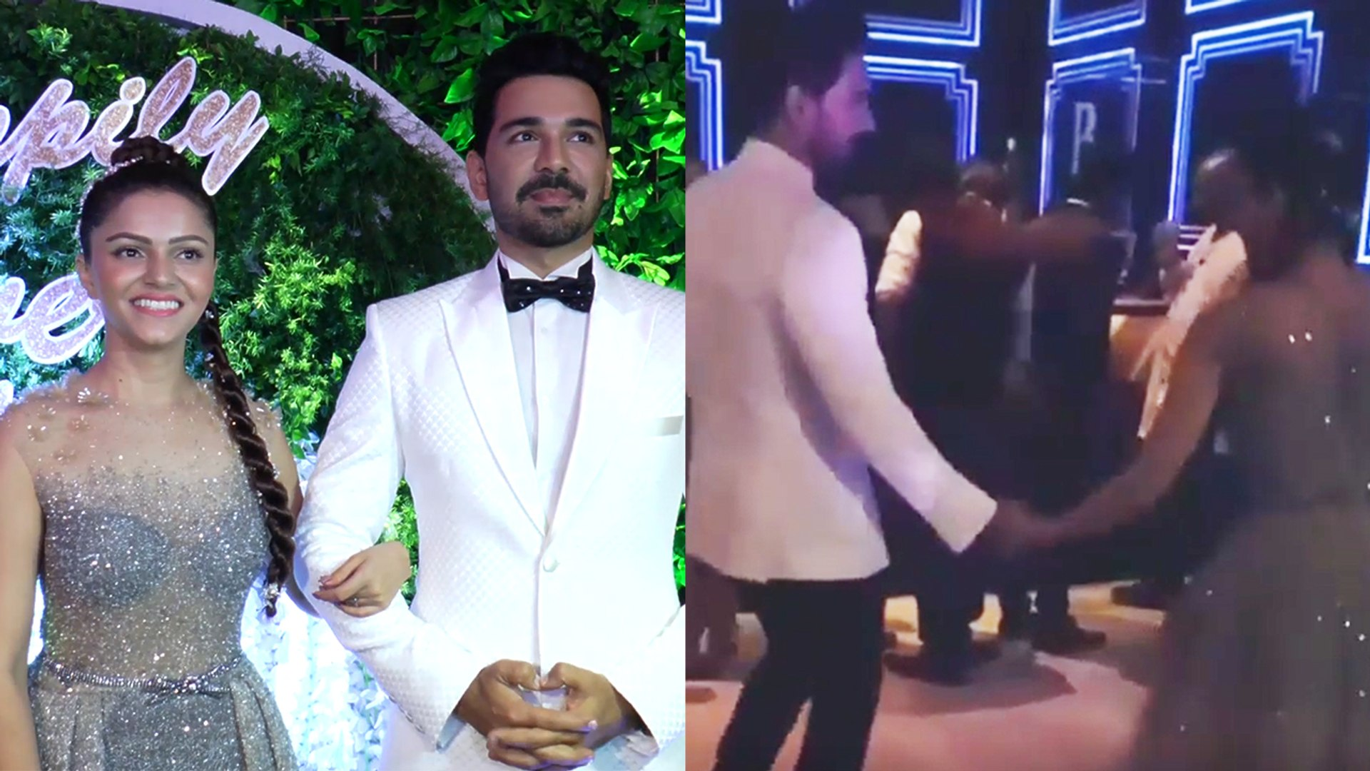 Rubina Dilaik and Abhinav Shukla's ROMANTIC DANCE at Mumbai reception; Watch Video। FilmiBeat