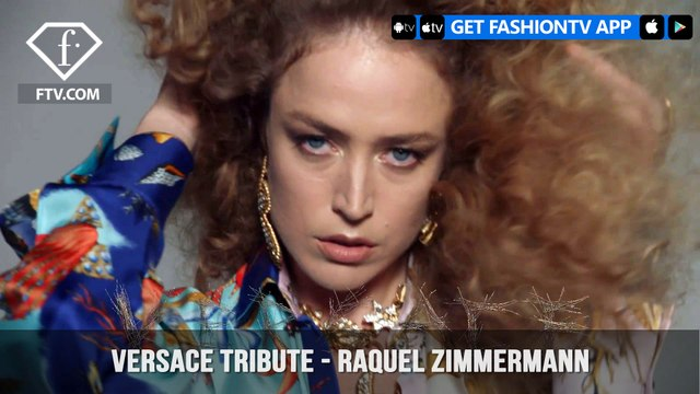 Raquel Zimmermann In Versace Tribute Collection Versace Tresor | FashionTV | FTV