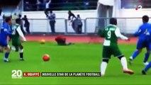 France 2 retrouve des images des premiers pas de Kylian Mbappé jouant au foot !