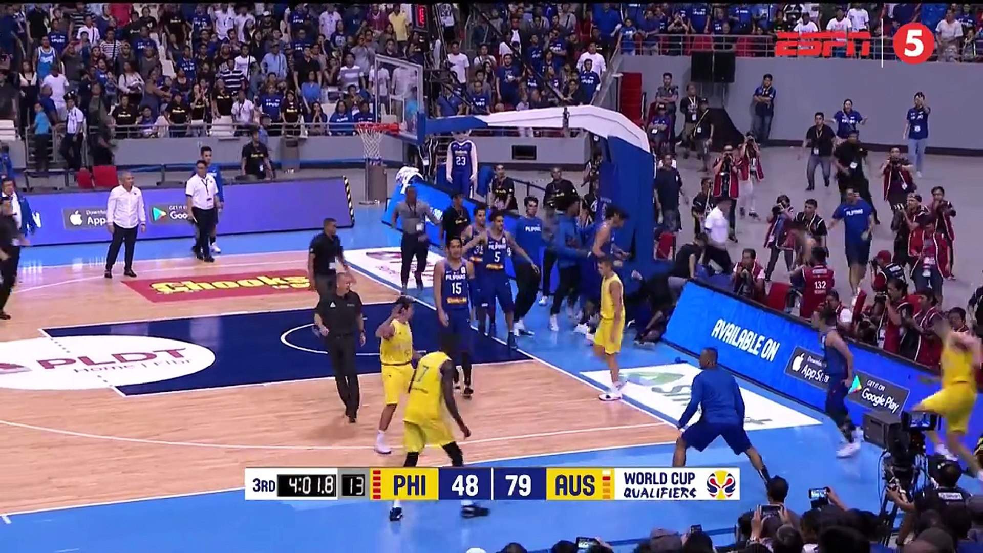 Gilas Players Ejected After Brawl With Australia