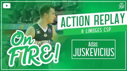 Adas Juskevicius prend feu à Limoges, 6/8 à 3 pts