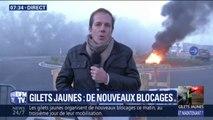 """Gilets jaunes: """"il y a de gros bouchons à l'entrée et à la sortie de l'autoroute A7"""" constate notre envoyé spécial au péage d'Avignon-Nord"""