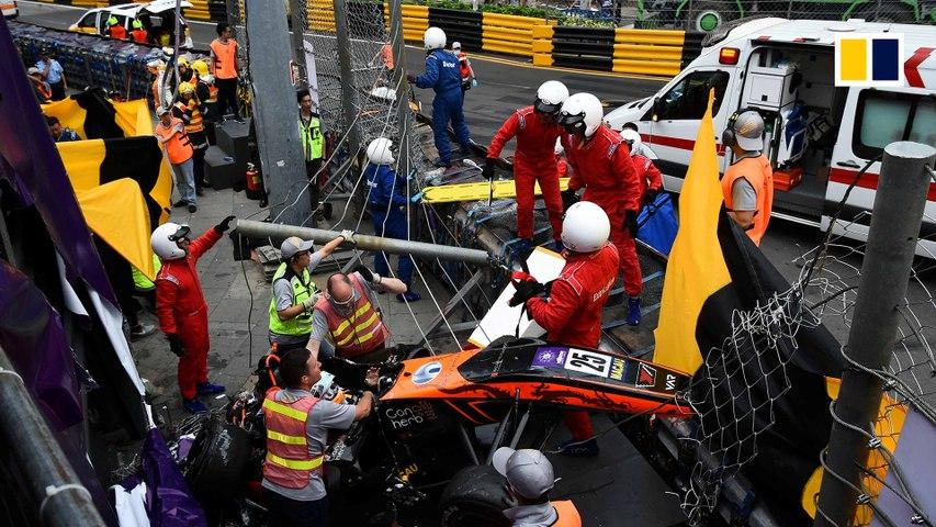 Horror crash at Macau Grand Prix