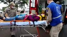 Colisão de trânsito na Av. Tancredo Neves deixa uma pessoa ferida