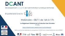 Webinaire DCANT #10 – RGPD et collectivités territoriales
