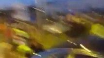 Une voiture force le barrage des gilets jaunes à Selestat, en Alsace