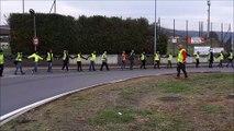 Franche-Comté Haute-Saône Minute de silence des gilets jaunes en ronde au rond-point de Noidans-lès-Vesoul