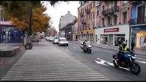 Franche-Comté Gilets jaunes L'opération escargot s'arrête devant le centre des impôts à Belfort