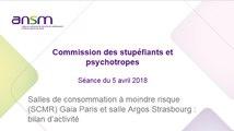 Salles de consommation à moindre risque (SCMR) Gaia Paris et salle Argos Strasbourg : bilan d'activité