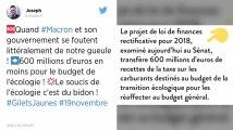 Taxes : Le gouvernement transfère 577 millions d'euros du budget de l'écologie vers le budget général