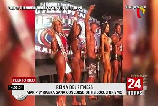 Puerto Rico: Maripily Rivera gana primer lugar en competencia de fisiculturismo