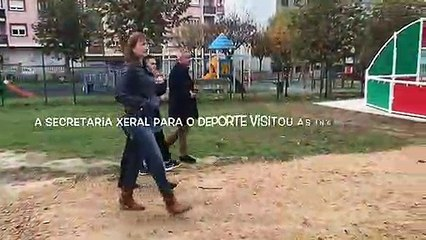 Visita Marta Míguez a Santa Comba