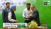 Former PM Manmohan Singh receives Indira Gandhi Peace Prize