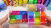 Glitter Slime Combine Learn Colors Makeup Case Mix Play Doh Toy Surprise Eggs Toys
