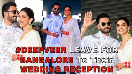 DEEPVEER ♥️ Spotted @ Airport As they Leave For WEDDING Reception in Banglore   Deepika   Ranveer