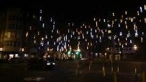 Liège : Les illuminations de Noël place Xavier Neujean