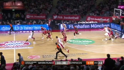 EuroLeague 2018-19 Highlights Regular Season Round 8 video: Bayern 62-72 Olympiacos