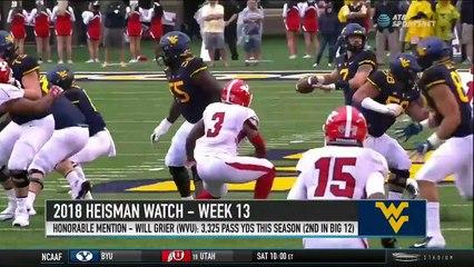 Brett McMurphy's Week 13 Heisman Watch