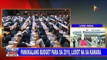 Panukalang budget para sa 2019, lusot na sa Kamara