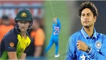 India vs Australia 1st T20 : Kuldeep takes a blinder, Khaleel strikes off the first ball