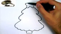 Comment dessiner un Sapin de Noel  ---  Chants de Noel