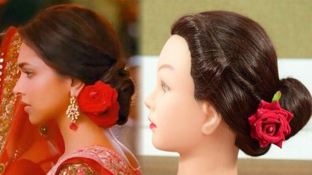 Deepika Padukone Style Bun Hairstyle Tutorial ऐस बन य द प क ज स ज ड Boldsky