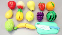 Toy Velcro Cutting Food Learn Fruits English Names Play Doh Surprise Eggs Toys