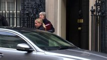 Theresa May departs Downing Street ahead of PMQs