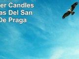 Set of 2 Infant of Prague Prayer Candles 2 Veladoras Del Santo Nino De Praga