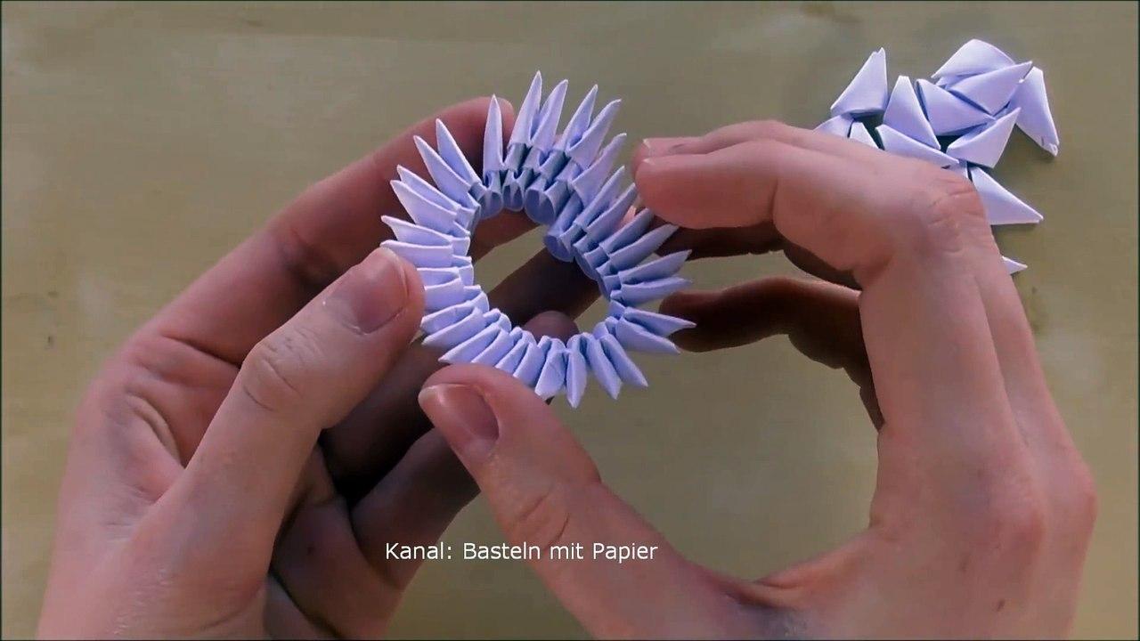 Origami Schwan Falten Basteln Mit Papier Diy Geschenkideen Bastelideen Deko 3d