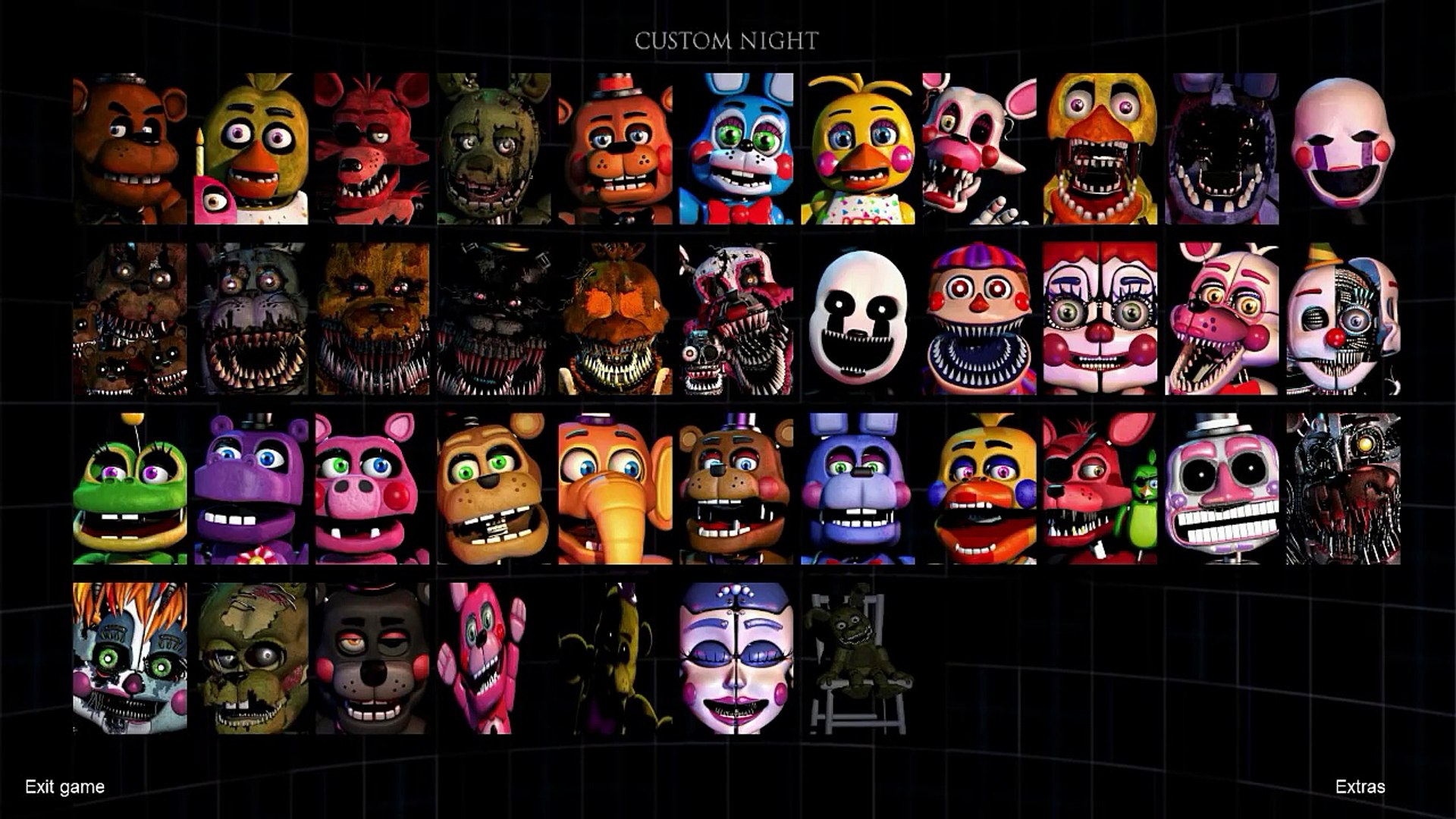 All Voices with Subtitles - Ultimate Custom Night