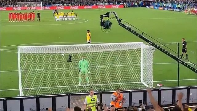 England Vs Colombia shootout view from Gallery