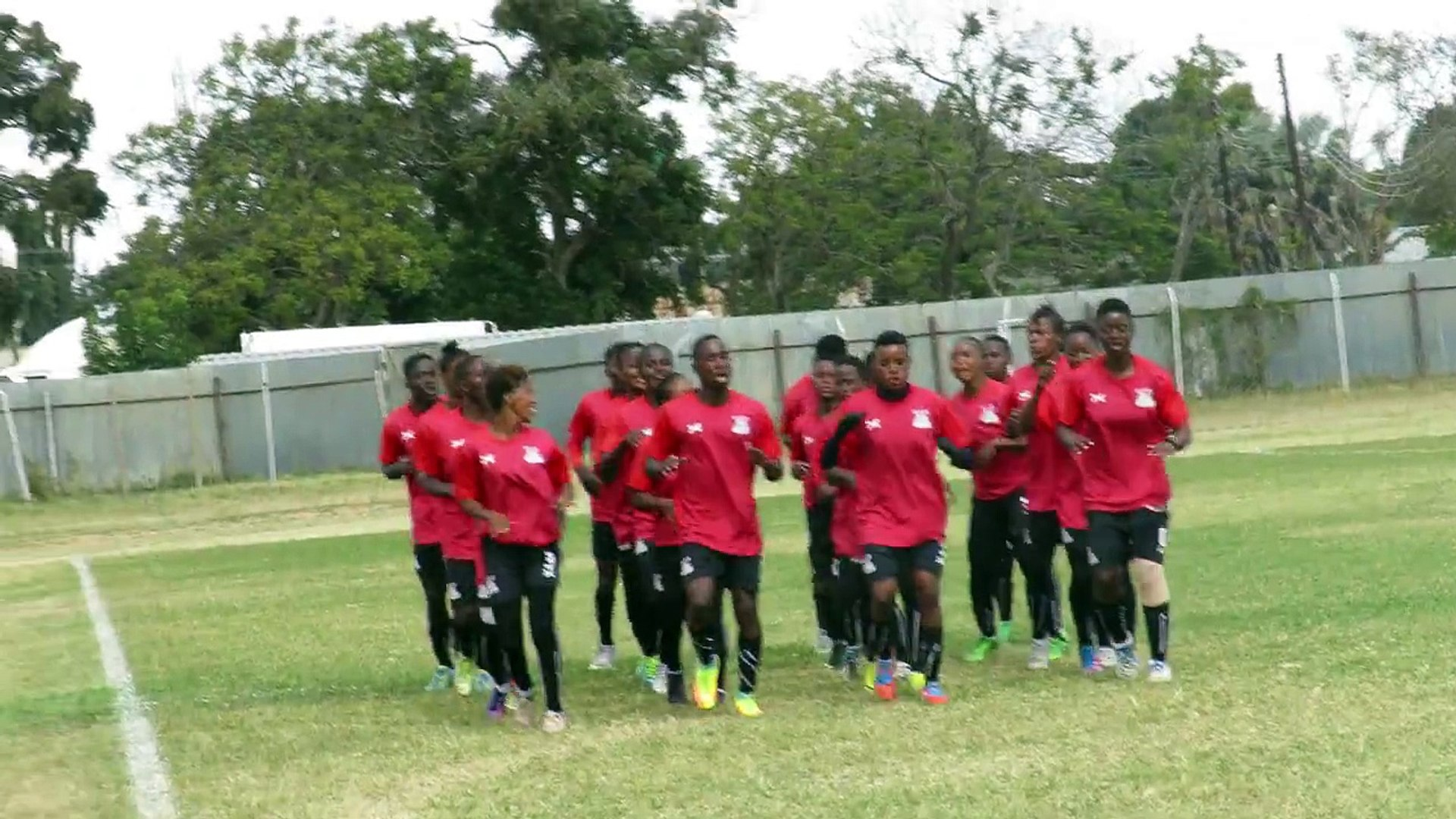 WOMEN TEAM FIRE UP FOR ZIM CHALLENGEThe Zambia Women National Team lit up their training session wit