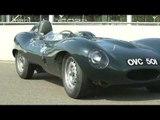 Jaguar D-Type and Jaguar F-TYPE Project 7 at Goodwood Motor Circuit | AutoMotoTV