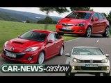 Mazda 3 VS VW Golf GTI VS Opel Astra - Carshow GTI class