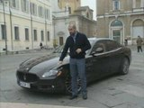 Former F1 Pilot Ivan Capelli introducing the new Maserati Quattroporte Sport GT S