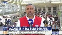 Départs en vacances : 4 TGV sur 5 prévus demain