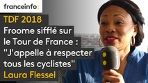 """Froome sifflé sur le Tour de France : """"J'appelle à respecter tous les cyclistes"""" dit Laura Flessel, la ministre des Sports"""