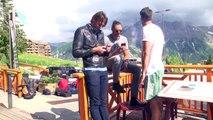 D!CI TV / Hautes-Alpes : Florent Manoudou et Camille Lacourt en visite à Orcières-Merlette lors d'un rallye moto